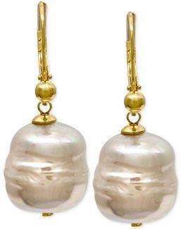 18k Vermeil Imitation Baroque Pearl (12mm) Drop Earrings