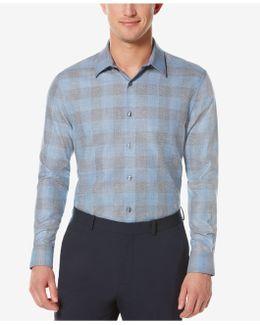 Men's Obscured Buffalo-plaid Long-sleeve Shirt