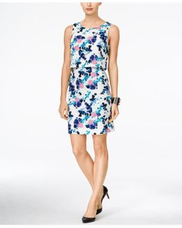 Floral-Print Popover Dress