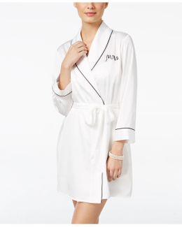 Bridal Mrs-embroidered Robe
