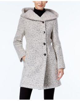 Asymmetrical Shawl-collar Walker Coat