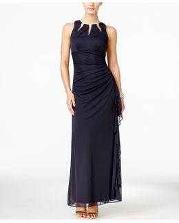 Sleeveless Jewel-embellished Gown