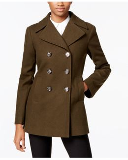 Petite Double-breasted Peacoat