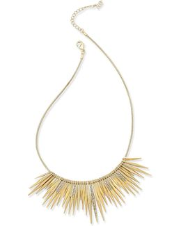 Gold-tone Pavé Crystal Spiked Collar Necklace