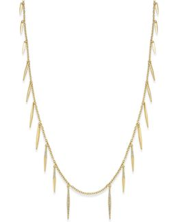Gold-tone Fringe Illusion Necklace