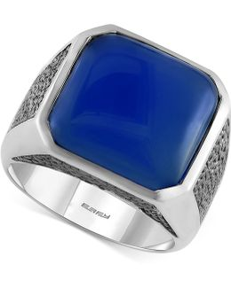 Men's Lapis Lazuli (15-1/5 Ct. T.w.) Ring In Sterling Silver
