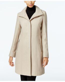 Wool-blend Seamed Walker Coat