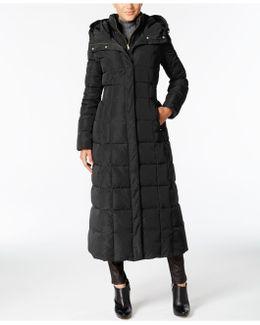 Hooded Down Maxi Puffer Coat