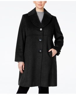 Plus Size Empire-waist Peacoat