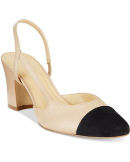 Liah Leather Slingback Pumps