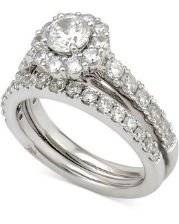Certified Diamond Bridal Set (2 Ct. T.w.) In 18k White Gold