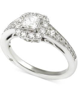 Certified Diamond Princess Engagement Ring (1 Ct. T.w.) In 18k White Gold