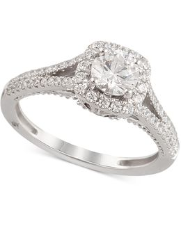 Certified Diamond Engagement Ring (1-1/4 Ct. T.w.) In 18k White Gold