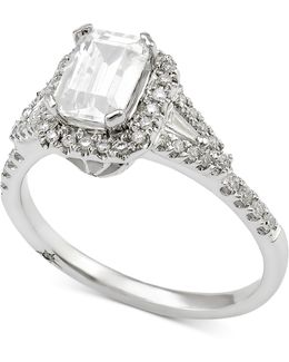 Diamond Engagement Ring (1 Ct. T.w.) In 18k White Gold