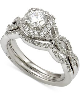 Certified Diamond Bridal Set (1 Ct. T.w.) In 18k White Gold