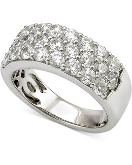 Diamond Three-row Band (2 Ct. T.w.) In 18k White Gold
