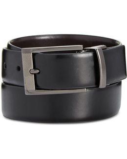 Men's Big & Tall Reversible Grained Belt