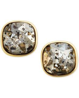 Gold-tone Dark Horse Stud Earrings