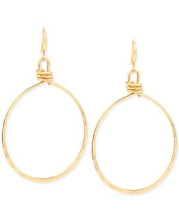 Gold-tone Wire Gypsy Hoop Earrings