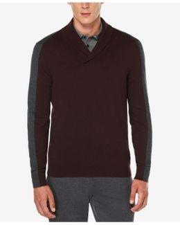 Men's Jacquard Shawl-collar Sweater