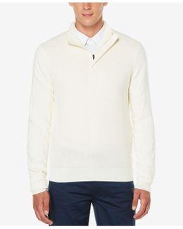 Men's Quarter-zip Mock Neck Sweater