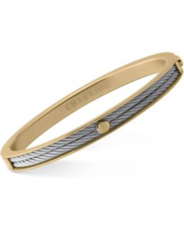 Women's Forever Two-tone Pvd Stainless Steel Cable Bangle Bracelet