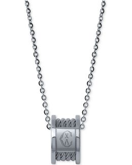 Women's Forever Stainless Steel Cable Pendant Necklace
