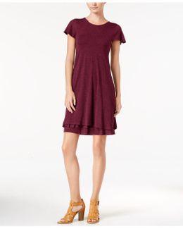 Heathered Tiered-hem Dress