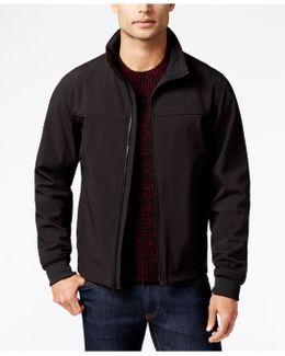 Big And Tall Soft-shell Zip-front Jacket