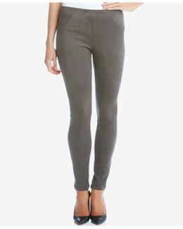 Pull-on Faux-suede Pants