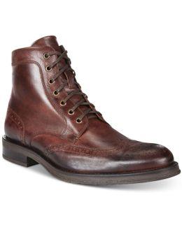 Men's Brace Wingtip Boots
