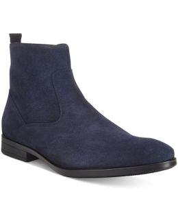 Men's At Lash Plain-toe Suede Boots