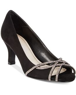 Eliza Peep-toe Evening Pumps