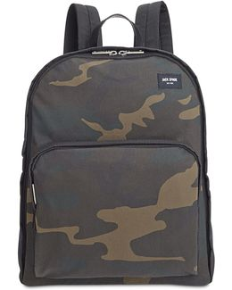 Men's Waxed Cotton Camo Backpack