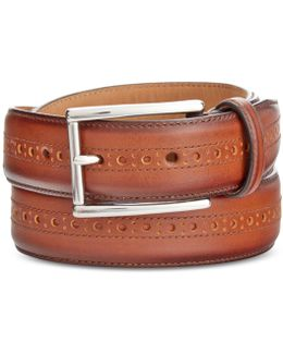 Men's Leather Wing-tip Belt