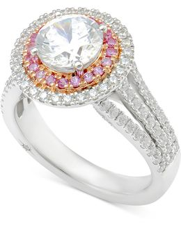 Diamond Engagement Ring (2-1/2 Ct. T.w.) In 18k White Gold And Rose Gold