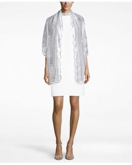 Sequined Scallops Evening Wrap