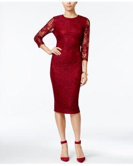 Lace Midi Sheath Dress