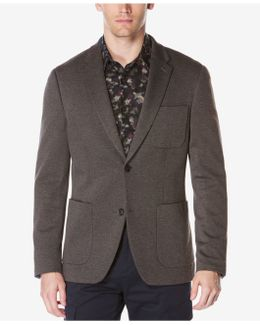 Men's Extra Slim-fit Heathered Knit Jacket