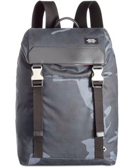 Men's Camo Waxed Cotton Army Backpack