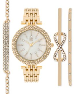 Women's Bracelet Watch And Bracelets Set 34mm In002rg