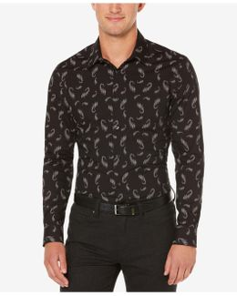 Men's Big & Tall Exclusive Shadow Paisley Print Shirt