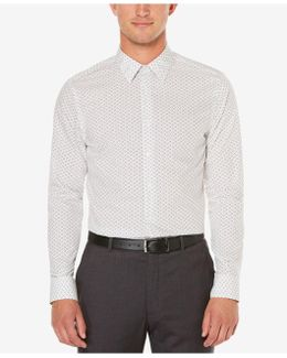 Men's Big & Tall Exclusive Staggered Rectangle Print Shirt