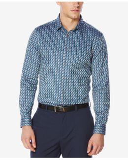 Men's Geometric Jacquard Shirt