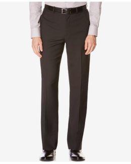 Men's Classic-fit Non-iron Performance Nailhead Dress Pants