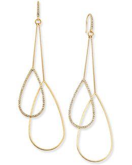 Gold-tone Double-teardrop Earrings