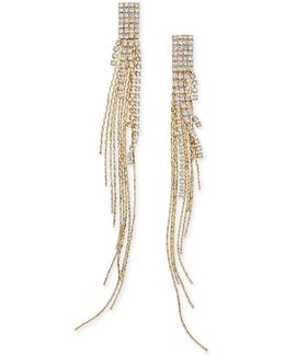 Gold-tone Pavé Fringe Drop Earrings