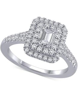 Certified Diamond Engagement Ring (1 Ct. T.w.) In 18k White Gold