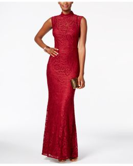 Open-back Lace Gown