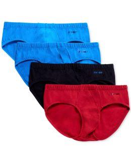 Men's 4-pk. Stretch Cotton Bikini Briefs